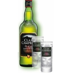 Coffret cadeau 6 verres clan campbell + bouteille clan campbell