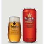 Verre à bière estrella damm barcelona