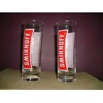 Verre tube smirnoff red