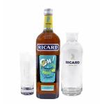 Coffret Ricard + Carafe + 6 verres tube long drink ricard