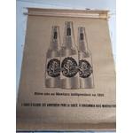 Bière sol affiche en toile de jute