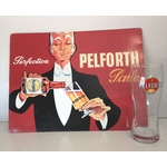 6 verres pelforth +  tole pelforth