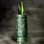 verre Tiki en céramique vert  tasse de cocktail hawaïen