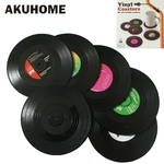 Dessous de Verre Rétro Disques Vinyles