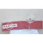 lots de 6 verres Martini et son tapis de bar