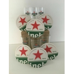 6 verre à bière heineken star et 6 sousbocks