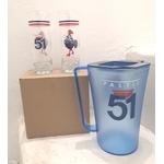 pack 51 6 verre tube 51 et carafe plastique 51