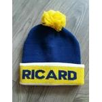 bonnet ricard bleu et jaune  hiver