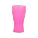 verre coca cola fluo rose 37 cl