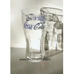 Verre coca cola lettre violet