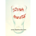 Verre coca cola lettre orange