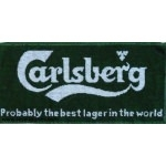 serviette de bar carlsberg