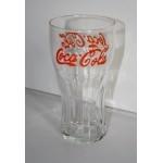 verre coca cola lettre rouge