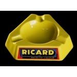 Cendrier Ricard jaune plastique