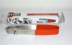 PINCE A GLACON OFFICIELLE EN METAL BOISSON ALCOOL APERITIF MARTINI ICE TONG RARE