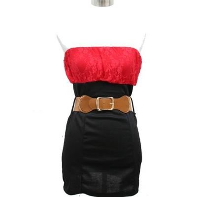 11026-grossiste-robe-bustier-en-dentelle-rouge grocistshop italien réf 11026 rouge