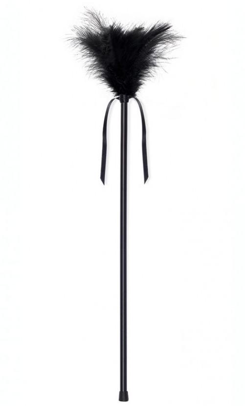 Plumeau noir 42 cm