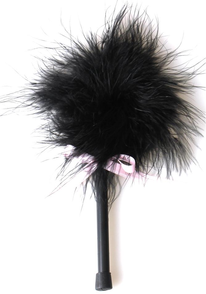 Plumeau Marabu noir 18 cm