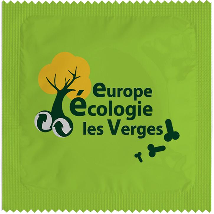 1 X préservatif EELV Europe Ecologie Les Verges