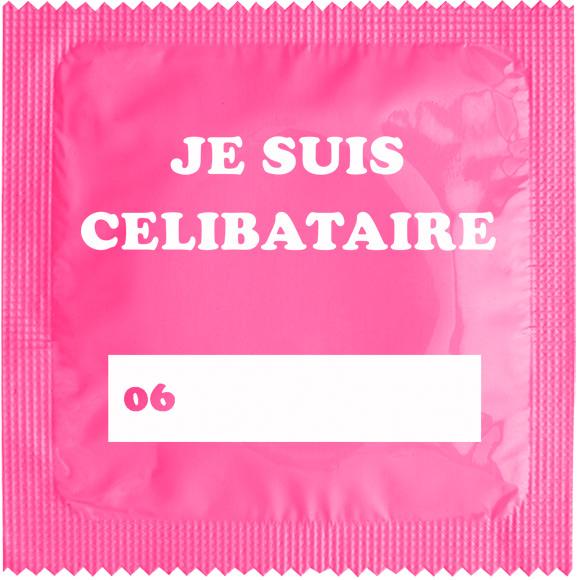 1 X préservatif Je Suis Célibataire Rose