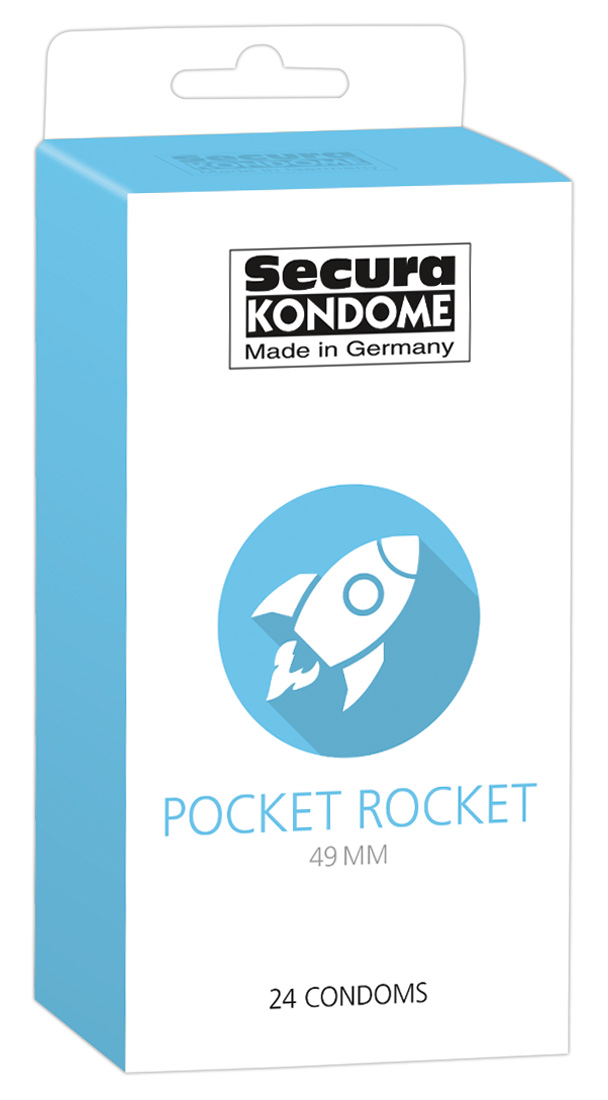 24 Préservatifs Etroit - Pocket Rocket