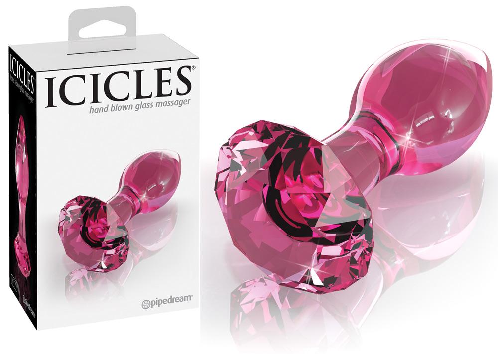 Plug en verre Rose Icicles No 79