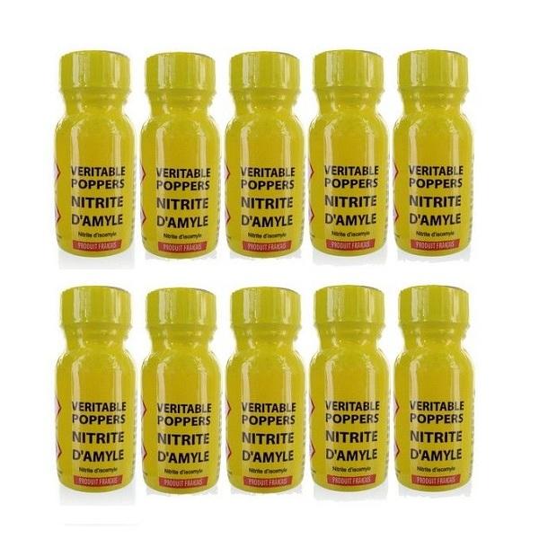 Poppers véritable au nitrite amyle 13 ml - Lot de 10