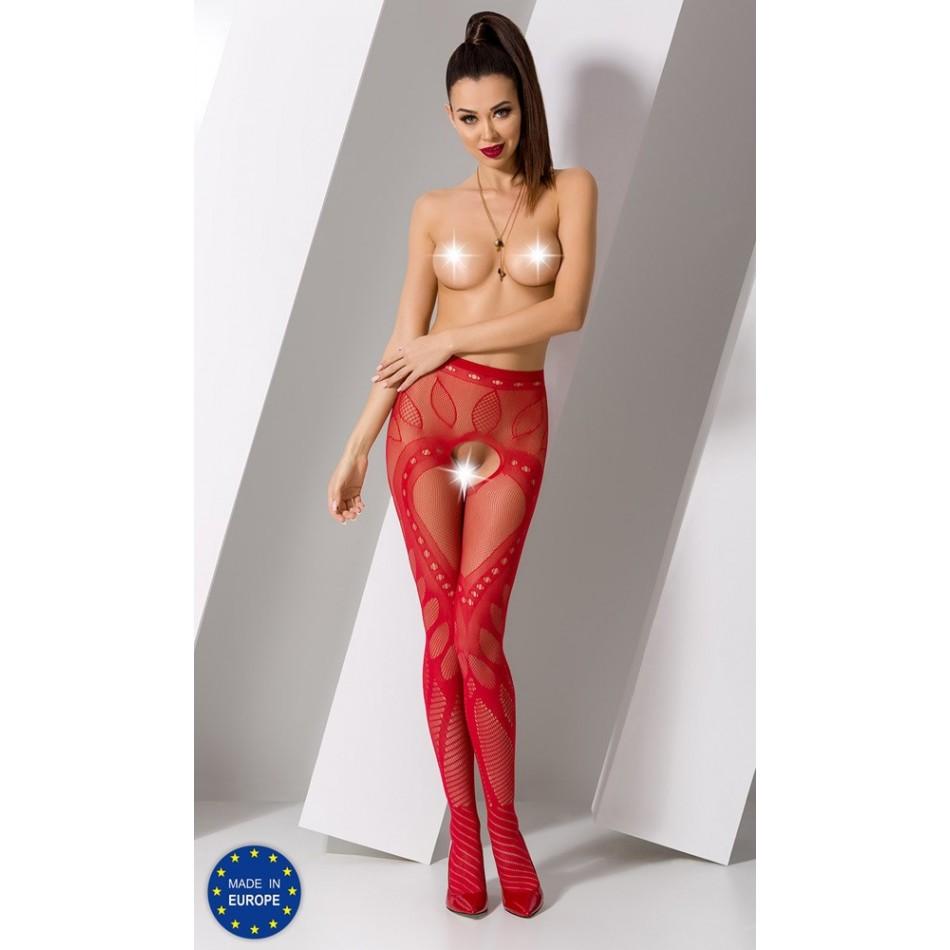 Collant Rouge Sexy S007 - TU