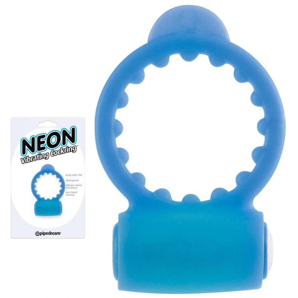 Anneau Vibrant Neon Bleu