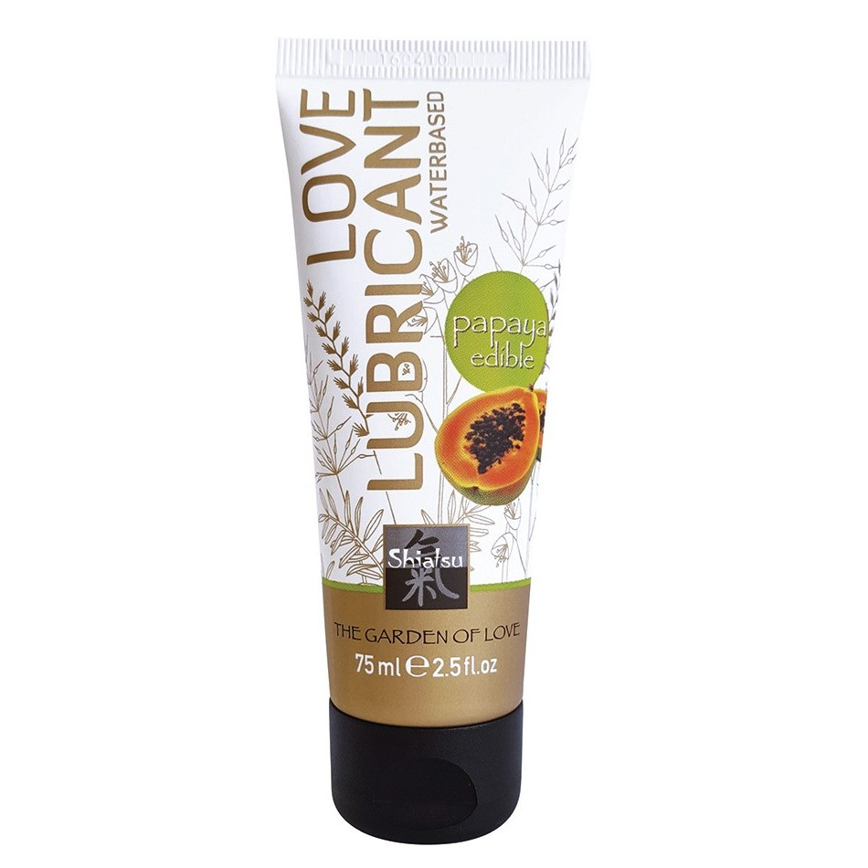 Lubrifiant Comestible Saveur Papaye - 75 ml