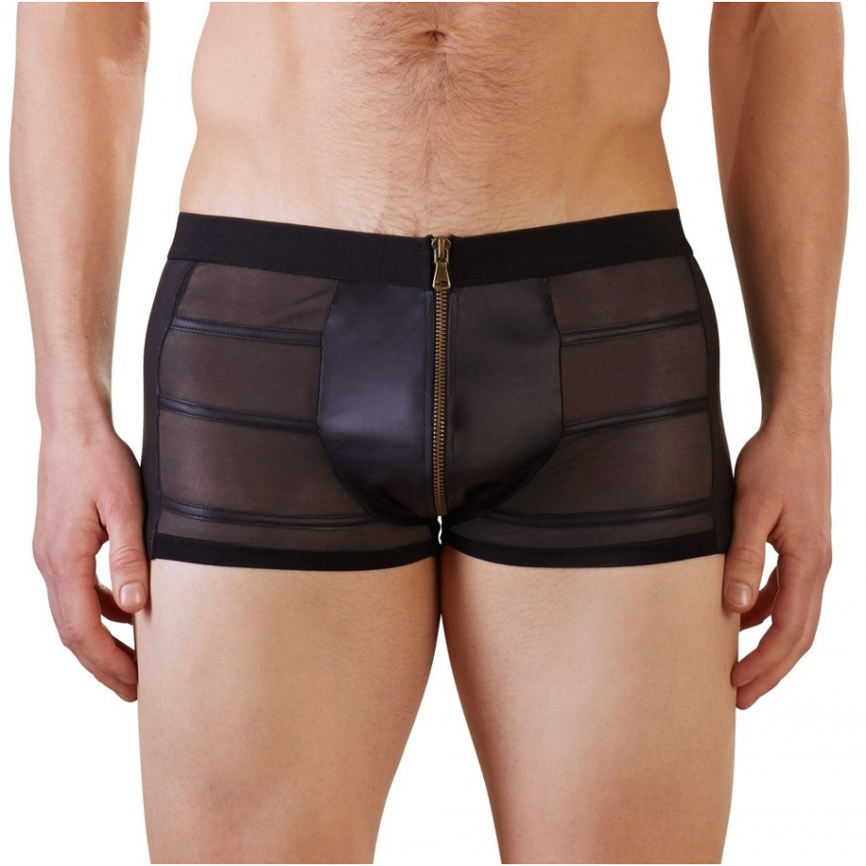 Short Noir Avec Zip Frontal