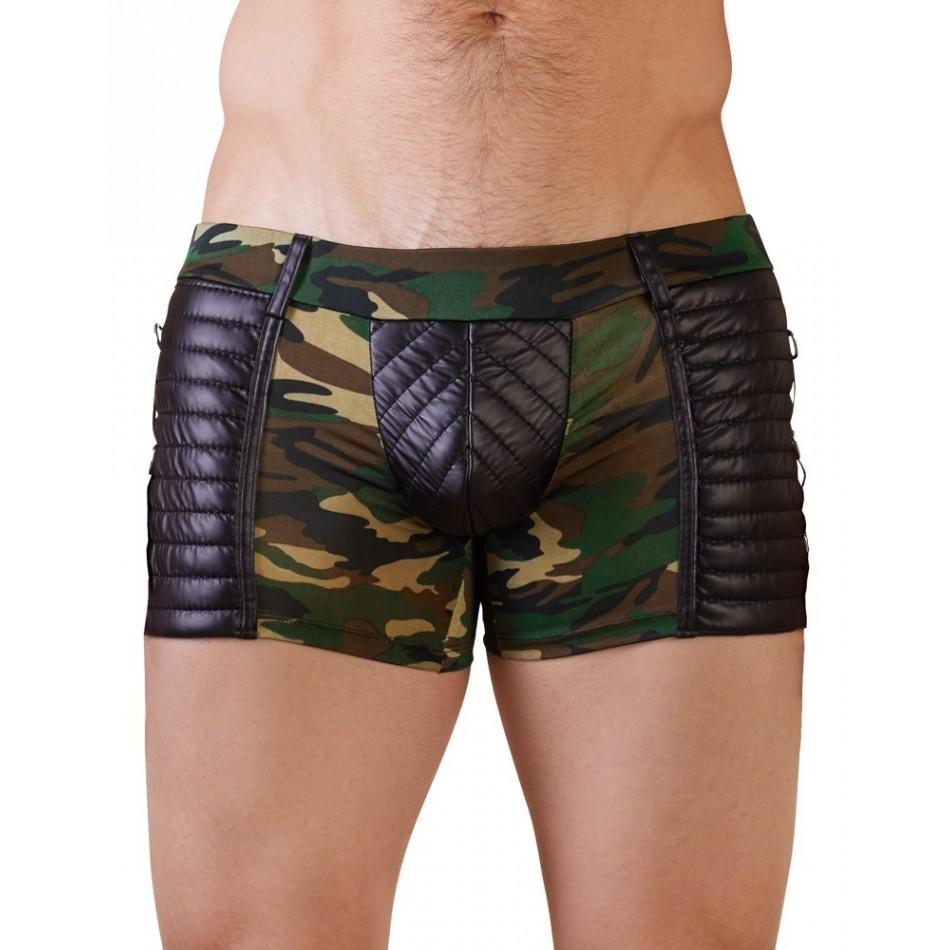 Short Camouflage Matelassé
