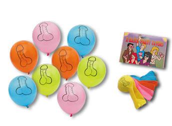 8 Ballons pénis Pecker