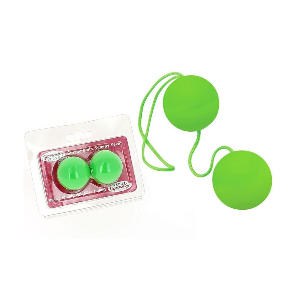Boules de Geisha Spoody Neon verte