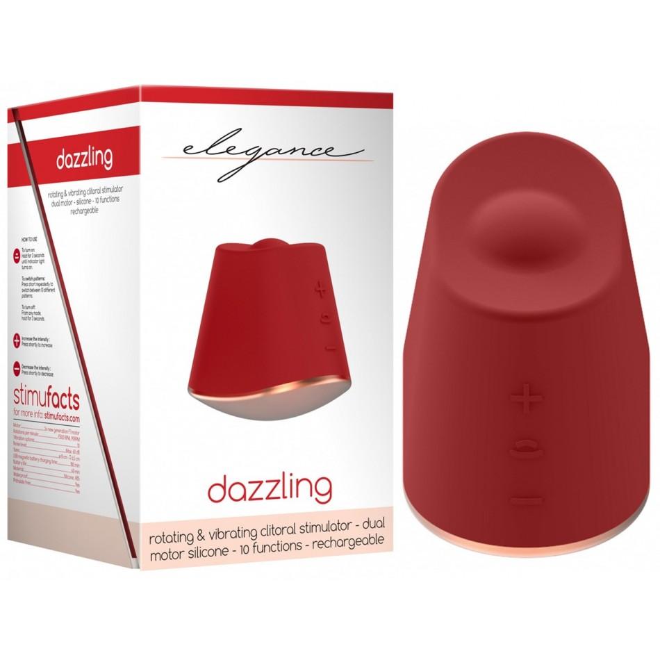 Stimulateur Rechargeable Dazzling Rouge