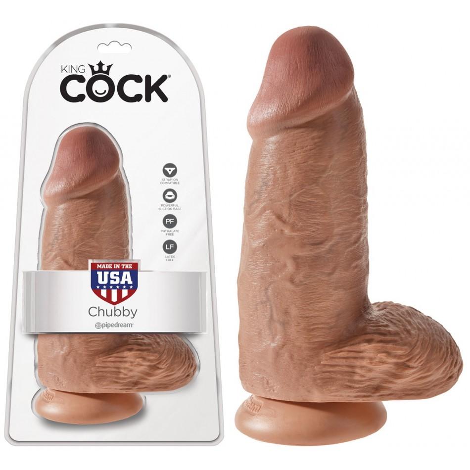 Gode Extra Large Chubby Caramel King Cock