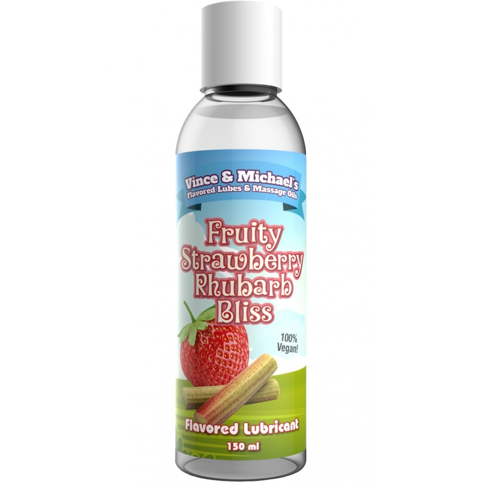 Lubrifiant V&M Saveur Fraise Rhubarbe - 150 ml