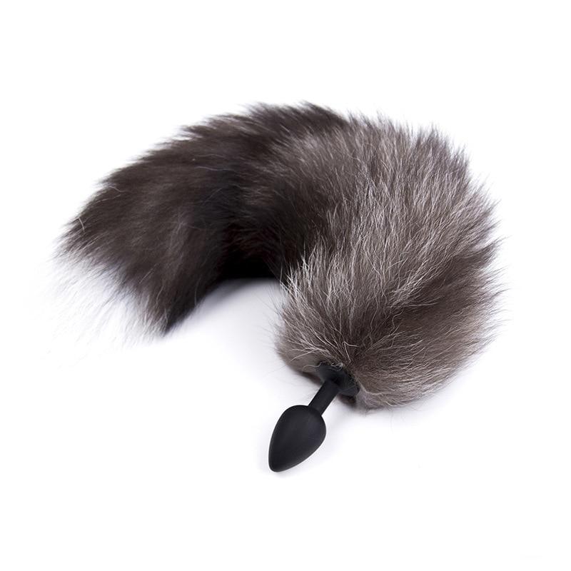 Plug anal silicone ou métal queue de renard