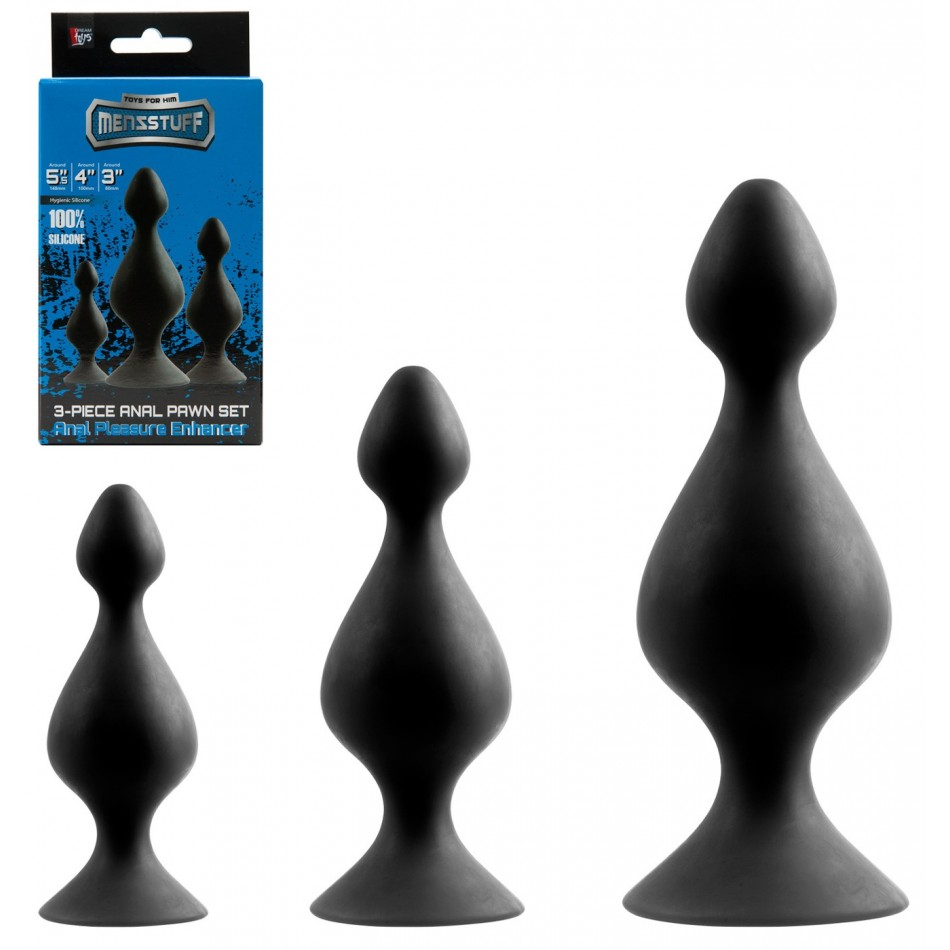 Set de 3 Plugs en Silicone Pawn Set