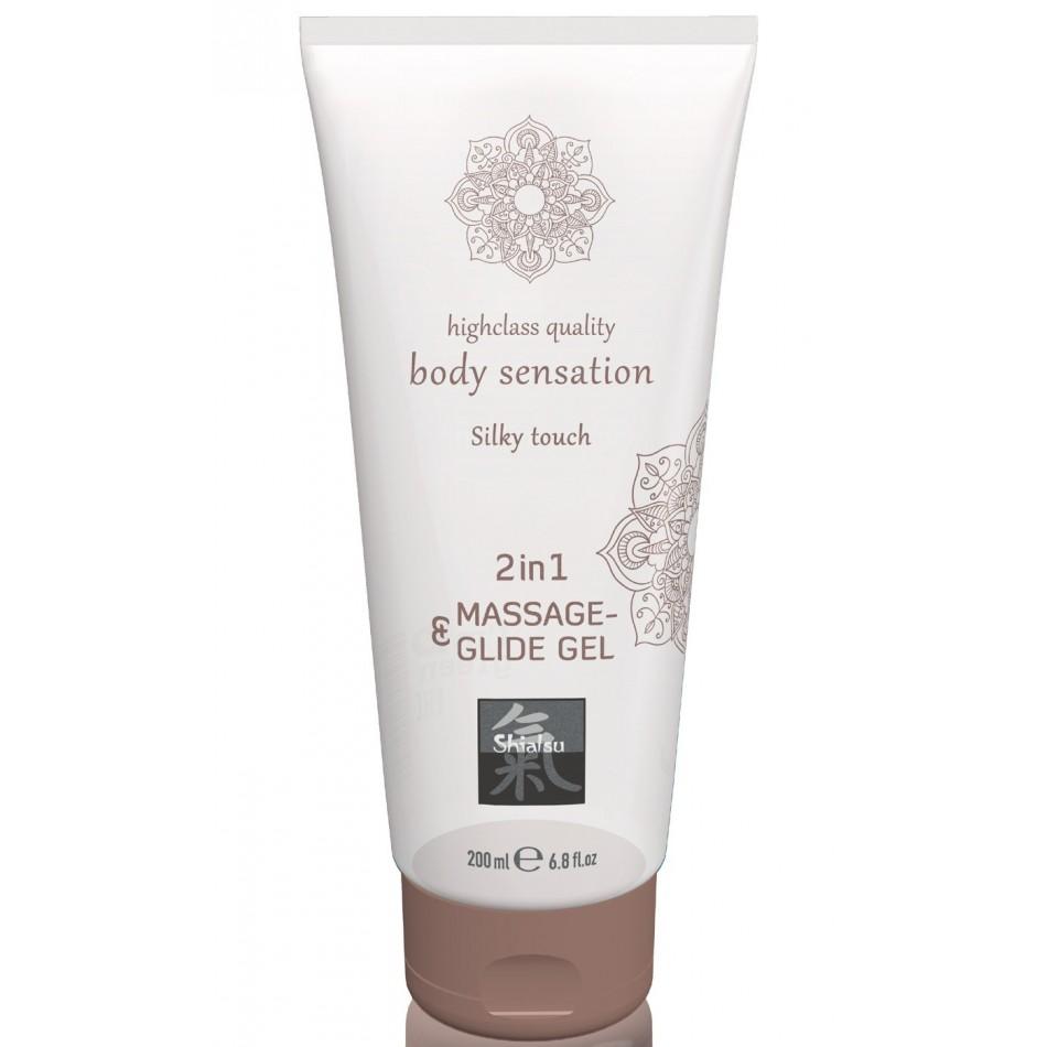 Lubrifiant + Massage 2en1 Toucher Soyeux - 200 ml