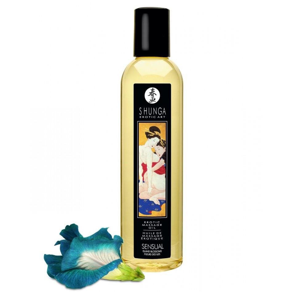 Huile de Massage Sensual Fleurs des Iles - 250 ml