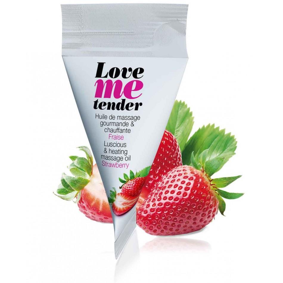 Berlingot d\'huile de massage saveur fraise - 10 ml