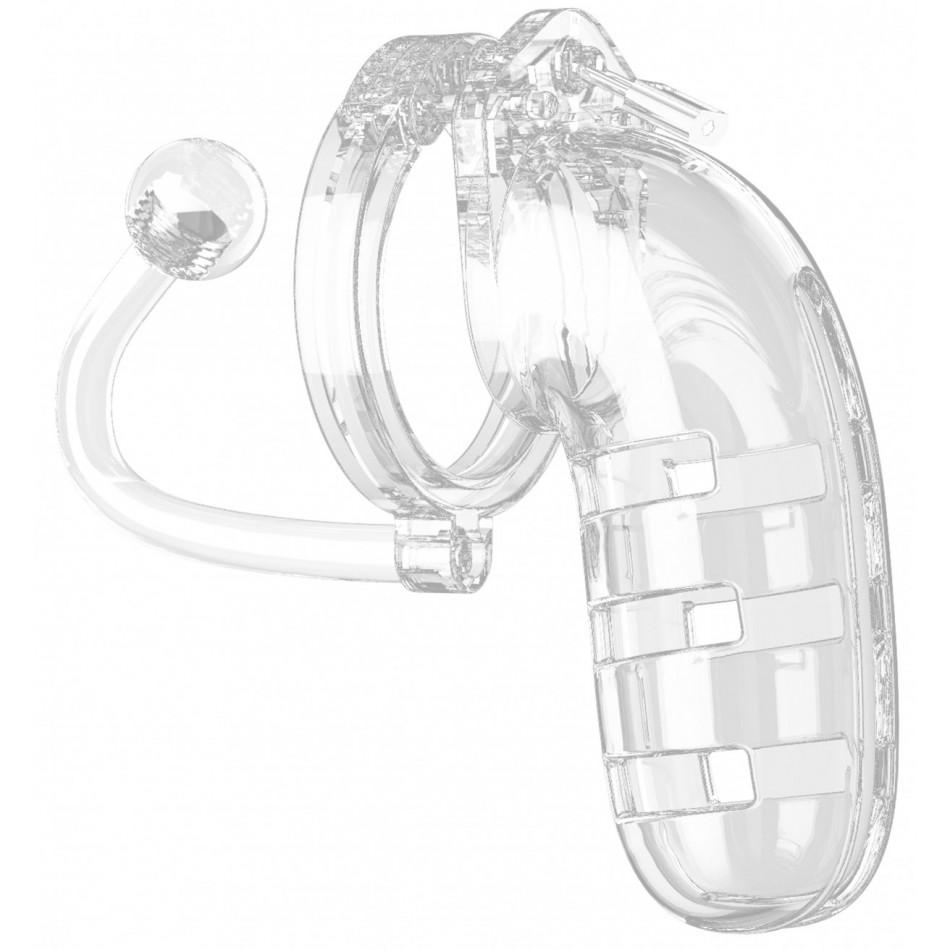 Cage de Chasteté + Plug Transparent N°12