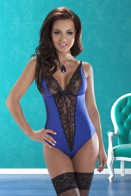 Body bleu Camelia - S-M