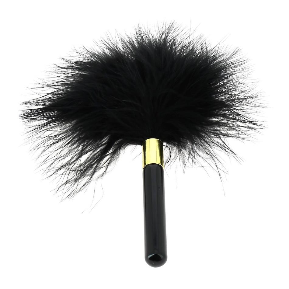Plumeau noir 17 cm