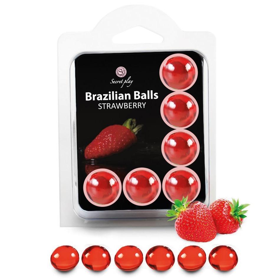 Boules Brésiliennes Saveur Fraise X6