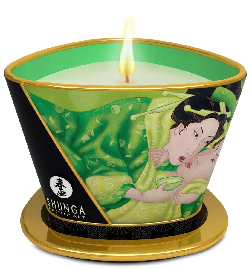 Bougie de massage Lueur et Carresse Thé Vert Exotique - 170 ml