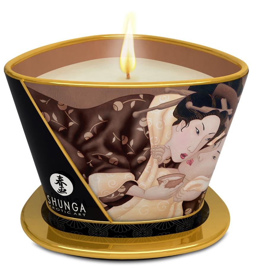 Bougie de massage Lueur et Carresse Chocolat enivrant - 170 ml