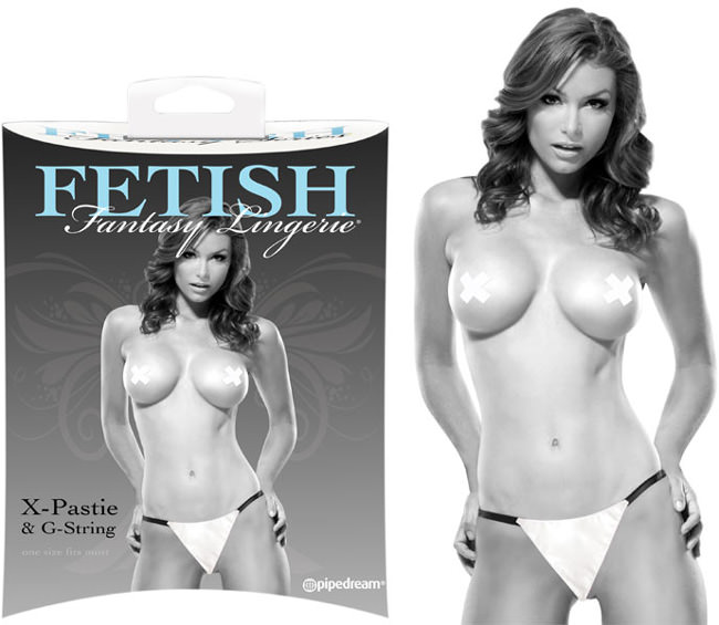 String et Pasties blanc Fetish Fantasy S-M