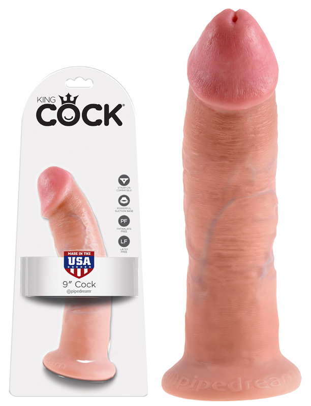 Gode réaliste à ventouse King Cock chair 23 cm